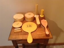 Collection of vintage celluloid vanity accessories