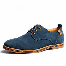 Multi Size Mens Suede Casual oxfords leather Shoes Business Dress Formal US 6-13