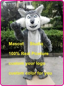 wolf Mascot Costume Cosplay Party Game Dress Outfit Advertising Halloween Adult