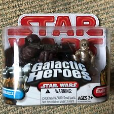 Chewbacca/Death Star Droid-Star Wars 2009 Galactic Heroes non ouvert Boxed Set