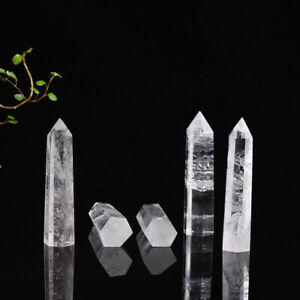 Natural Quartz Crystal Clear Rock Point Hexagona Wand Obelisk Stone Healing UK