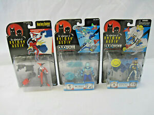Three (3) Vintage Kenner Batman & Robin Action Figure Toys in Boxes Harley Quinn