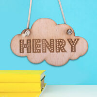 Personalised Wooden Door Signs Kids Shabby Chic Hanging Plaques Custom Name Date
