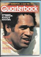 OJ Simpson Buffalo Bills Jan 1976 Pro Quarterback Magazine Dryer/Harris/Stabler