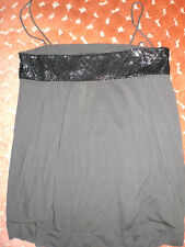 NWT Dream Society Isla Black Metal Mesh Nutmeg color Camisole Size Medium