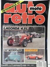 Revue AUTO RETRO moto magazine n° 91 - mars 1988 collection lagonda bizzarrini