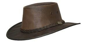 Barmah Squashy Cooler Kangaroo Leather Hat