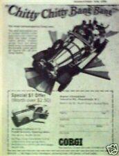 1968 Corgi Diecast Metal Chitty Chitty Bang Bang~Mustang Oddball Toy Car AD