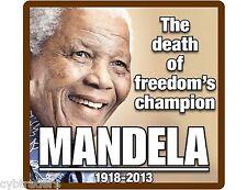 Nelson Mandela Freedom Champion  Refrigerator  Magnet  / File Cabinet
