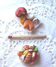 Fromage Miniature Aliment Factice Cheese Maison Poupée Vitrine DollHouse Food