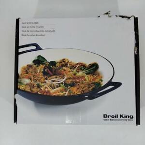 """Broil King, 14"""" diameter, Durable Porcelain Cast Iron Wok - 69710"""