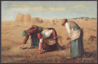 """The Gleaners"" 3 peasant women gleaning a field of stray stalks of wheat 1904 PC"