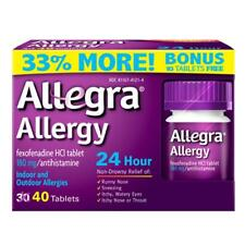Allegra 24hr Allergy Relief 180 MG Tablets 40 EA