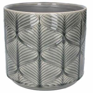 Grey Wave Wavy Design Ceramic Plant Pot Cover Planter, Gisela Graham 4 Sizes