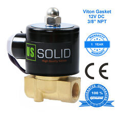 Us Solid 38 12v Dc Brass Electric Solenoid Valve Air Water Normally Closed