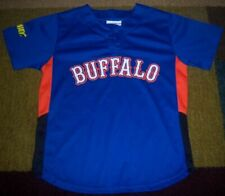 Rare AUTHENTIC Replica BUFFALO BISONS Blue JERSEY Youth/Boys XL NY Mets l