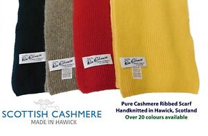 Pure Cashmere Scarf  - Handknitted by us in Hawick, Scotland