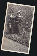 Old Vintage Antique Photograph Two Women Wearing Cool Outfits & Hats