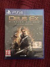 Vendo Gioco Ps4: Deus Ex Mankind Divided Day One Edition