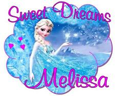 "Elsa Pillowcase Frozen Movie ""Sweet Dreams"" Personalized Any Name Great Gift"