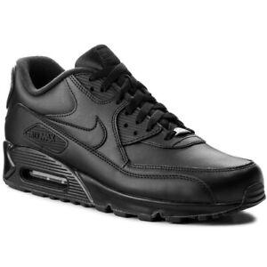 Nike Air Max 90 Essential Herrenschuhe Turnschuhe Leder schwarz  302519 001 SALE