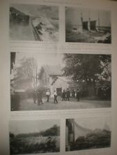 Printed photo France duel between Marquis De Dion and Gerault-Richard 1902 rf AW