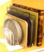 Bakeware Holder Dish Pan Cabinet Rack Divider Holds Dish Storage Adjustable