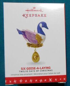 "Hallmark Keepsake Ornament  ""12 Days of Christmas Six Geese-A-Laying""  #6 (2016)"