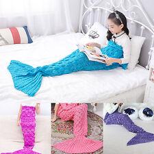 Crochet Mermaid Tail Blanket Children Cocoon Kid Handmade Lapghan Blankets Quilt