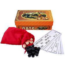 Russisches Lotto Русское лото Bingo Bingospiel Brettspiel Spielset Familienspiel