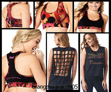 ZUMBA 2 Pc. SET! Don't Forget to Dance Heart Reversible Bra Top + Tee Tank S M L