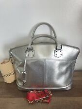 Auth Louis Vuitton SUHALI Lockit MM  Silver Bag Tote Purse US SELLER Priority