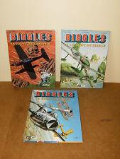 3 albums bande dessinée BD - E.O - BIGGLES detective de l'air (5 + 9 + 11)