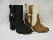 Ladies Black/Tan Anne Michelle Ankle Boots UK Sizes 3 - 8 F50648