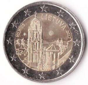 2 Euro 2017 Lithuania Coin KM#228 Vilnius — capital of culture and art