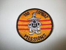 b4839 US Air Force Vietnam F4 Phantom II 100 Combat Missions RVN Flag gold IR21F