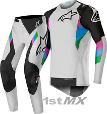 Alpinestars Supertech LE Vision Cool Grey Black Motocross Gear Adults 32 Medium