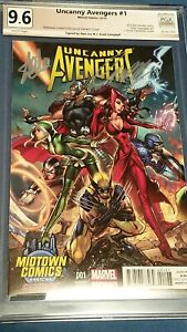 Uncanny Avengers #1 PGX 9.8 Signed STAN LEE + SCOTT CAMPBELL Midtown Variant NM