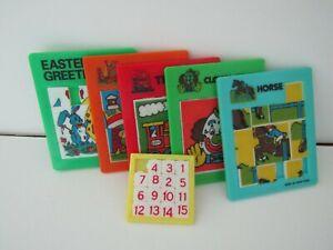 Six Plastic Sliding Puzzles