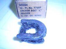 "1 Box of 10 - NOS WW2 Dodge G502, G507 Brake Shoe Anchor Bolt "" C "" Washers"