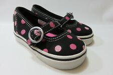 VANS Black & Pink Slip-On Sneakers Toddler Girl's Size 5 Medium EUC