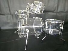 Brand New Small Size 5-pc Acrylic Drum Set with Tube Lugs by 3 colors available