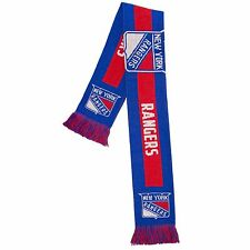 New York Rangers Scarf Knit Winter Neck - Double Side Big Team Logo New 2016
