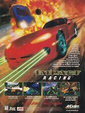 Original 1996 IMPACT RACING  Sega Saturn PlayStation video game print ad page