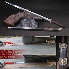 High Quality Pattern Steel Chinese Sword Han Jian (漢劍) Sharp Blade Ebony Sheath