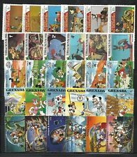 WALT DISNEY CARTOON STAMPS COLLECTION PACKET of 30 Different Stamps MNH (Lot 4)