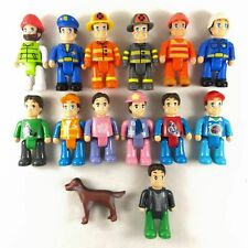 Random lot of 10pcs Little dollhouse figures Airport figures People Worker Dog