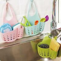 Kitchen Sink Shelf Soap Sponge Drain Rack Bathroom Hanging Holder Storage M0W7