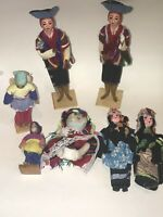 Vtg Lot Handcrafted Handmade Peruvian DOLLS Doll Made in Peru Traditional Outfit