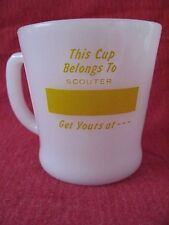 Anchor Hocking Hills Mug by Fire King Boy Scout Camp Logan Ohio Central Council